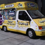 Cartoon Network Part branded promotional ice cream van
