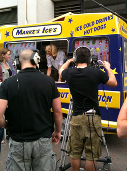 Ice Cream Van for TV and Media Filming Shoots
