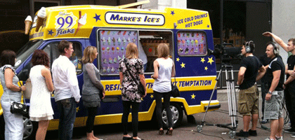 Ice Cream Van Hire for TV and Media Work